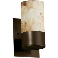 Justice Design ALR-8761-10-DBRZ Alabaster Rocks 1 Light 5 inch Dark Bronze Wall Sconce Wall Light Cylinder
