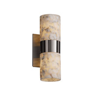 Justice Design Alabaster Rocks Dakota 2-Up/Down Light Wall Sconce in Brushed Nickel ALR-8762-10-NCKL