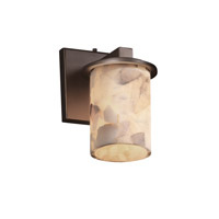 Justice Design Alabaster Rocks Dakota 1-Light Wall Sconce in Dark Bronze ALR-8771-10-DBRZ