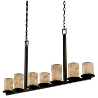 Alabaster Rocks 7 Light 5 inch Dark Bronze Chandelier Ceiling Light