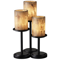 Justice Design Alabaster Rocks Dakota 3-Light Table Lamp in Matte Black ALR-8797-10-MBLK
