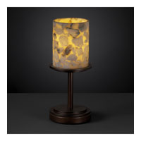 Alabaster Rocks 12 inch 60 watt Dark Bronze Table Lamp Portable Light