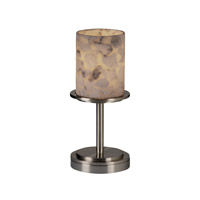 Justice Design Alabaster Rocks Dakota 1-Light Table Lamp (Short) in Brushed Nickel ALR-8798-10-NCKL