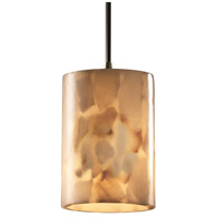 Justice Design Alabaster Rocks Pendants Mini 1-Light Pendant in Antique Brass ALR-8815-10-ABRS