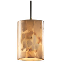 Justice Design Alabaster Rocks Pendants Mini 1-Light Pendant in Polished Chrome ALR-8815-10-CROM