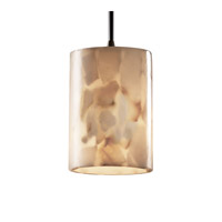 Justice Design ALR-8815-10-DBRZ Alabaster Rocks 1 Light 4 inch Dark Bronze Pendant Ceiling Light in Cylinder with Flat Rim, Cord photo thumbnail