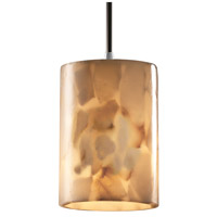 Justice Design Alabaster Rocks Pendants Mini 1-Light Pendant in Brushed Nickel ALR-8815-10-NCKL