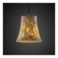 Justice Design Alabaster Rocks Pendants Mini 1-Light Pendant in Brushed Nickel ALR-8815-20-NCKL