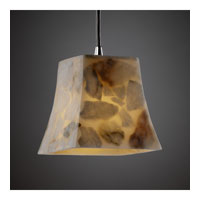 Justice Design Alabaster Rocks Pendants Mini 1-Light Pendant in Polished Chrome ALR-8815-40-CROM