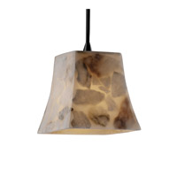 Justice Design ALR-8815-40-CROM Alabaster Rocks 1 Light 6 inch Polished Chrome Pendant Ceiling Light in Square Flared, Cord photo thumbnail