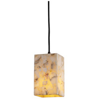 Justice Design Alabaster Rocks Pendants Small 1-Light Pendant in Dark Bronze ALR-8816-15-DBRZ