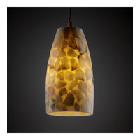 Justice Design Alabaster Rocks Pendants Small 1-Light Pendant in Dark Bronze ALR-8816-28-DBRZ