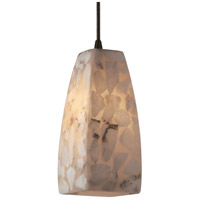 Justice Design Alabaster Rocks Pendants Small 1-Light Pendant in Dark Bronze ALR-8816-65-DBRZ