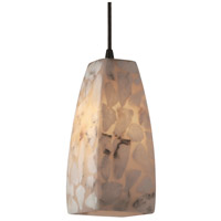 Justice Design Alabaster Rocks Pendants Small 1-Light Pendant in Matte Black ALR-8816-65-MBLK