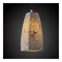 Justice Design Alabaster Rocks Pendants Small 1-Light Pendant in Brushed Nickel ALR-8816-65-NCKL photo thumbnail