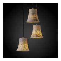Alabaster Rocks 3 Light Brushed Nickel Pendant Ceiling Light in Round Flared