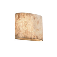 Justice Design Alabaster Rocks Ada Wide Oval Wall Sconce ALR-8855