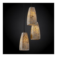 Alabaster Rocks 3 Light 5 inch Dark Bronze Pendant Ceiling Light in Tall Tapered Square
