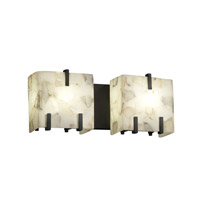 Alabaster Rocks 2 Light 16 inch Matte Black Bath Light Wall Light