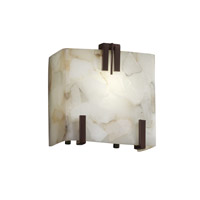 Alabaster Rocks 1 Light 6 inch Dark Bronze ADA Wall Sconce Wall Light