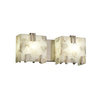 Alabaster Rocks 2 Light 16 inch Brushed Nickel Bath Light Wall Light