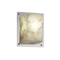 Justice Design ALR-8891-CROM Alabaster Rocks 1 Light 7 inch Polished Chrome ADA Wall Sconce Wall Light