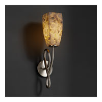 Justice Design Alabaster Rocks Capellini 1-Light Wall Sconce in Brushed Nickel ALR-8911-65-NCKL