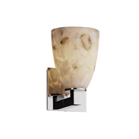 Justice Design Alabaster Rocks Modular 1-Light Wall Sconce in Polished Chrome ALR-8921-18-CROM
