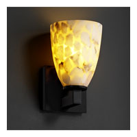 Justice Design Alabaster Rocks Modular 1-Light Wall Sconce in Matte Black ALR-8921-18-MBLK