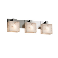 Alabaster Rocks 3 Light 27 inch Brushed Nickel Vanity Light Wall Light in Fluorescent, Rectangle