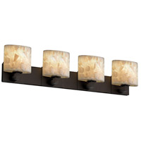 Alabaster Rocks 4 Light 35 inch Dark Bronze Bath Bar Wall Light in Fluorescent, Oval