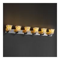 Alabaster Rocks 6 Light 56 inch Polished Chrome Bath Bar Wall Light in Fluorescent, Square Flared