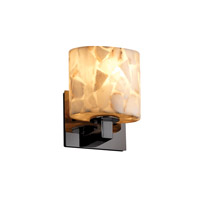 Justice Design Alabaster Rocks Modular 1-Light Wall Sconce (Ada) in Black Nickel ALR-8931-30-BLKN