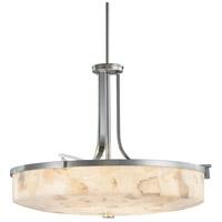 Justice Design ALR-8982-NCKL Alabaster Rocks 6 Light 27 inch Brushed Nickel Pendant Ceiling Light in Incandescent
