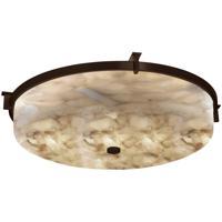 Justice Design ALR-8988-DBRZ Alabaster Rocks LED 21 inch Dark Bronze Flush-Mount Ceiling Light Round