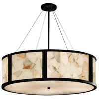 Alabaster Rocks 8 Light 48 inch Drum Pendant Ceiling Light