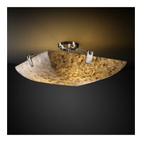 Alabaster Rocks 3 Light 21 inch Brushed Nickel Semi-Flush Bowl Ceiling Light in Square Bowl