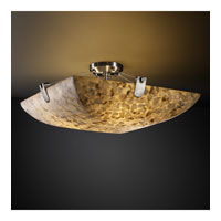 Alabaster Rocks 6 Light 27 inch Brushed Nickel Semi-Flush Bowl Ceiling Light in Square Bowl