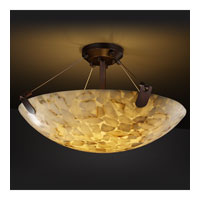 Alabaster Rocks 8 Light 21 inch Dark Bronze Semi-Flush Bowl Ceiling Light in Round Bowl
