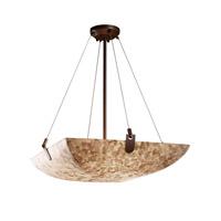 Justice Design ALR-9622-35-NCKL-LED5-5000 Alabaster Rocks LED 27 inch Brushed Nickel Pendant Ceiling Light in 5000 Lm LED, Round Bowl