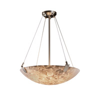 Alabaster Rocks 6 Light 27 inch Brushed Nickel Pendant Bowl Ceiling Light in Round Bowl
