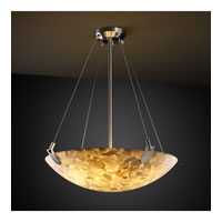 Alabaster Rocks 8 Light 39 inch Brushed Nickel Pendant Bowl Ceiling Light in Round Bowl