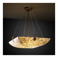 Alabaster Rocks 8 Light 51 inch Dark Bronze Pendant Bowl Ceiling Light in Square Bowl