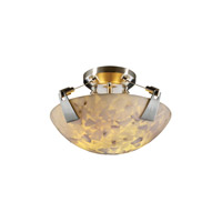 Alabaster Rocks 2 Light 21 inch Brushed Nickel Semi-Flush Bowl Ceiling Light in Round Bowl
