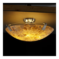 Alabaster Rocks 8 Light 21 inch Brushed Nickel Semi-Flush Bowl Ceiling Light in Round Bowl