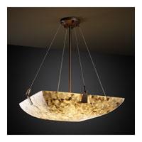 Justice Design ALR-9641-25-NCKL-LED3-3000 Alabaster Rocks LED 21 inch Brushed Nickel Pendant Ceiling Light in 3000 Lm LED, Square Bowl