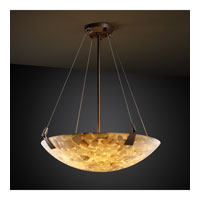Justice Design ALR-9641-35-DBRZ Alabaster Rocks 3 Light Dark Bronze Pendant Bowl Ceiling Light in Round Bowl photo thumbnail