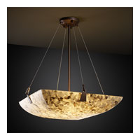 Alabaster Rocks 6 Light 27 inch Dark Bronze Pendant Bowl Ceiling Light in Square Bowl