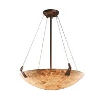 Justice Design ALR-9642-35-DBRZ-LED5-5000 Alabaster Rocks LED 27 inch Dark Bronze Pendant Ceiling Light in 5000 Lm LED, Round Bowl
