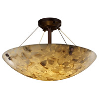 Alabaster Rocks 6 Light 21 inch Dark Bronze Semi-Flush Bowl Ceiling Light in Round Bowl, Pair of Cylinders
